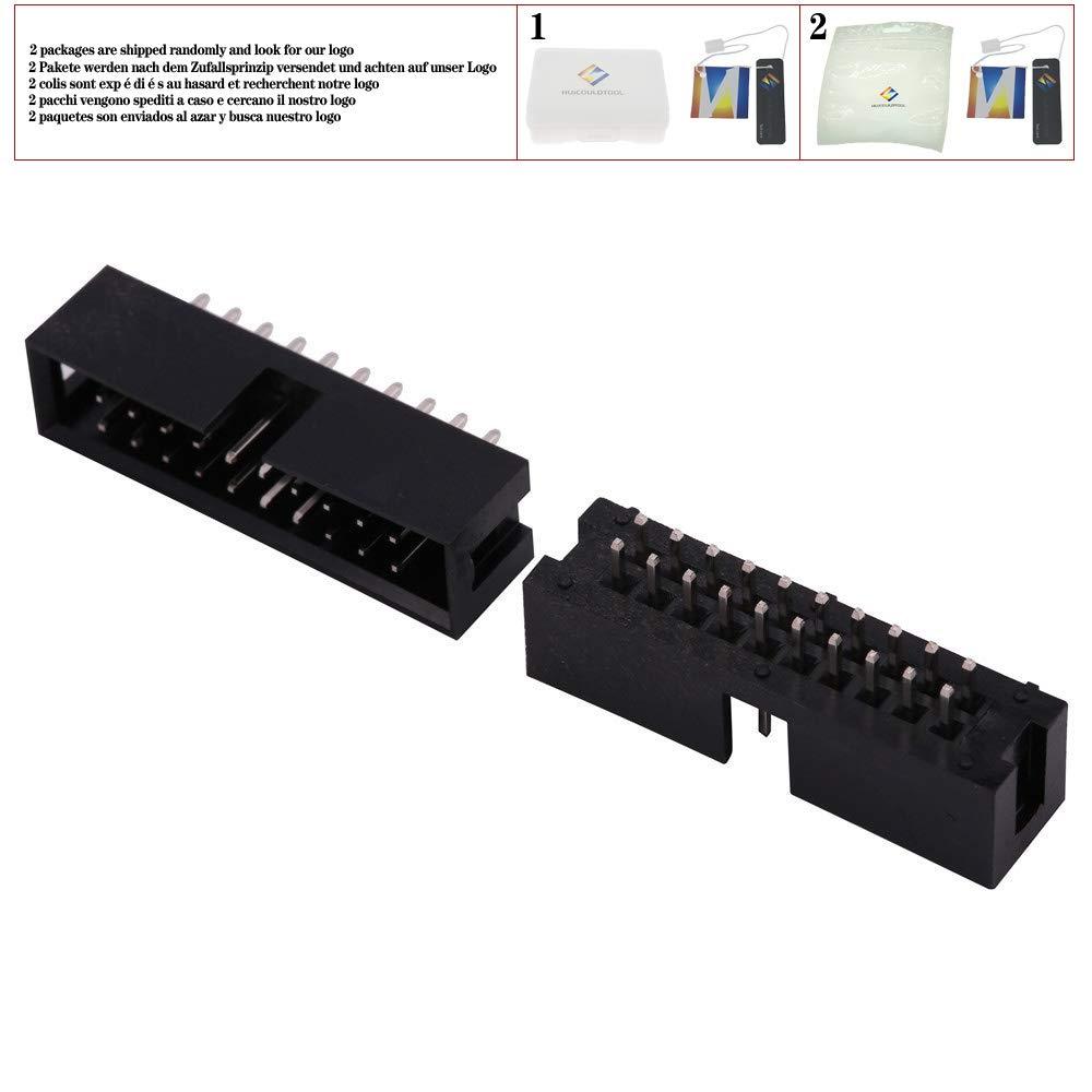 10PCS Pitch 2.54mm DC3 6//8//10//14//16//20//26//30//34//40//50 Pin 2x3//4//5//7//13Pin Recto Macho Cubierto PCB IDC Socket Box Header JTAG,DC3-10Pin