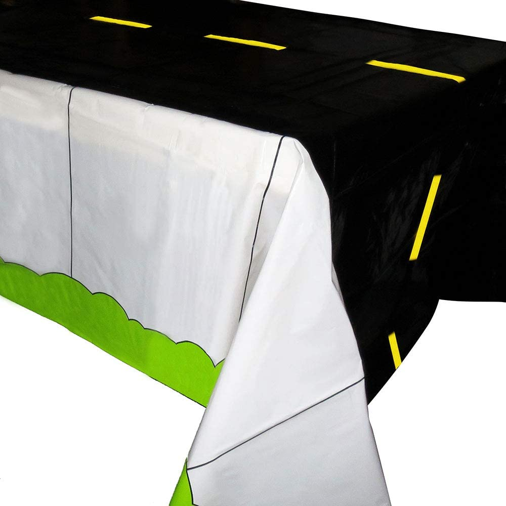 Road Tablecovers (2), Racing Party Supplies, Cars Themed Birthday Party