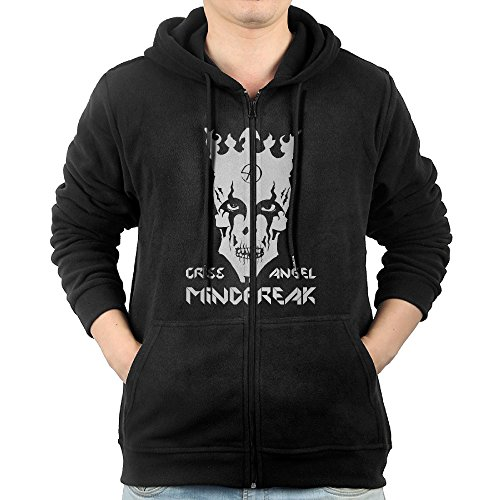 Criss Angel Mindfreak Zipper Sweatshirts For Men M Black