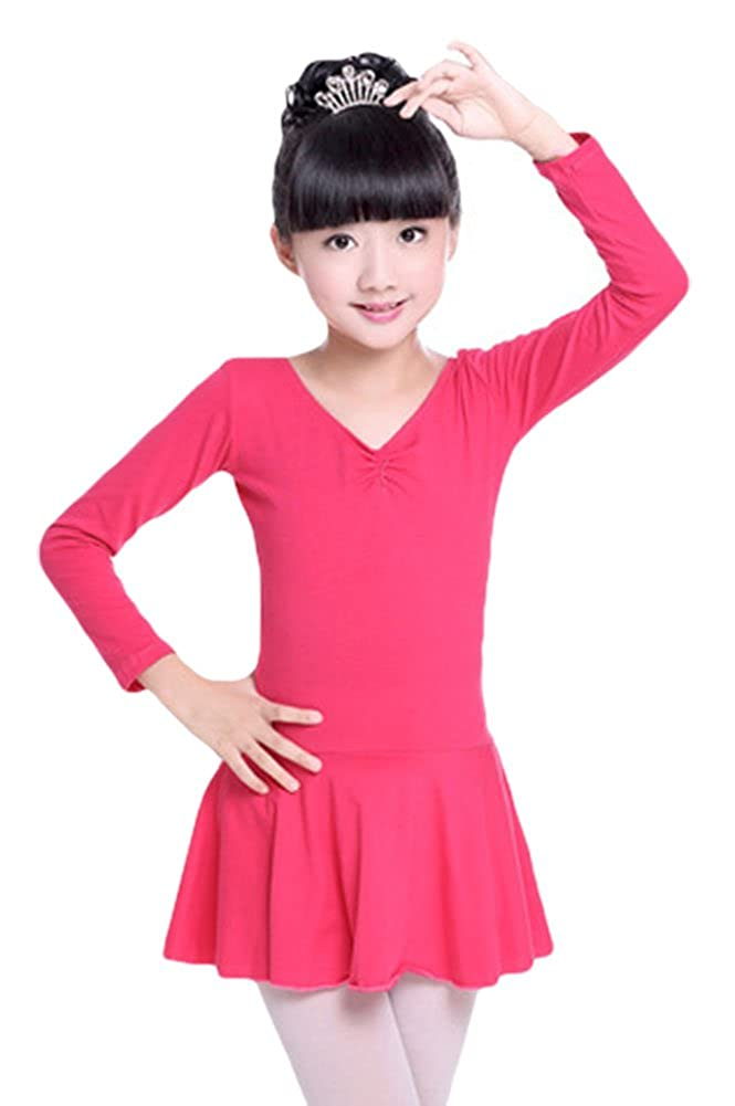 ezShe Girls Ballet Leotard Skirted Gymnastics Ballerina Dance Dress