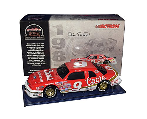 AUTOGRAPHED 1987 Bill Elliott #9 Coors TALLADEGA WORLD RECORD CAR (Historical) Winston Cup Series Rare Black Window Bank Signed 1/24 Scale NASCAR Diecast Car with COA (1 of only 636 produced!) from Trackside Autographs