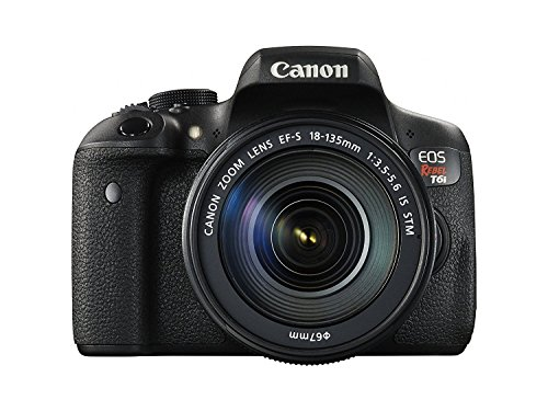 Canon EOS Rebel T6i 24.2 MP Digital SLR Touchscreen Camera Kit with EF-S 18-135mm IS STM Lens - Built-in WiFi and NFC (Renewed)