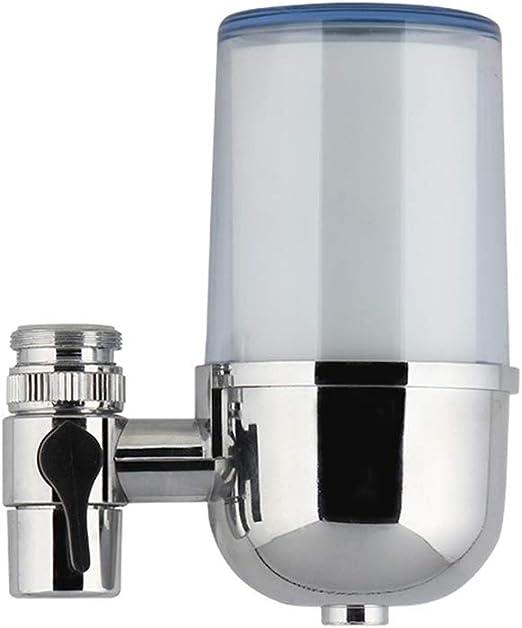 Grifo filtro de agua, Faucet montado purificador de agua de grifo fácil de instalar cocina doméstica filtro de agua de la máquina filtro de cerámica, eliminar el ...