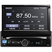 TUVVA KSN7812 1 DIN Mechless Car Auduio with 7 Touch Screen, MHL Mobile Connectivity, Bluetooth / USB / SD / AV IN / MP3 /MP4 / AM / FM Receiver (No CD/DVD player)