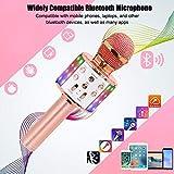 Bluetooth Karaoke Wireless Microphone, Ankuka 4 in