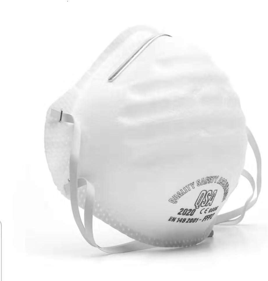 fghdf Máscara antivirus N95 Grado FFP3 con válvula de respiración, Filtro 99% de bacterias y Polvo, Máscara Protectora de Seguridad montada en la Cabeza de Grado FFP2 / FFP