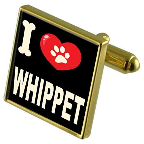 Cufflinks Whippet My amp; I Money Dog Tone Love Clip Gold 7wvFX