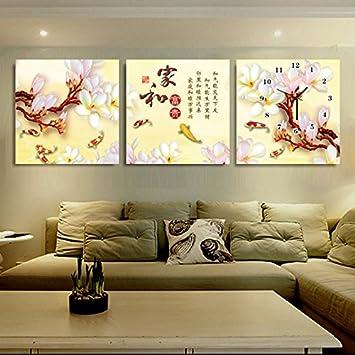 50 cuadrículas de 50 cm Arte cuadro sin marco pared reloj creativo hogar moderno sala de