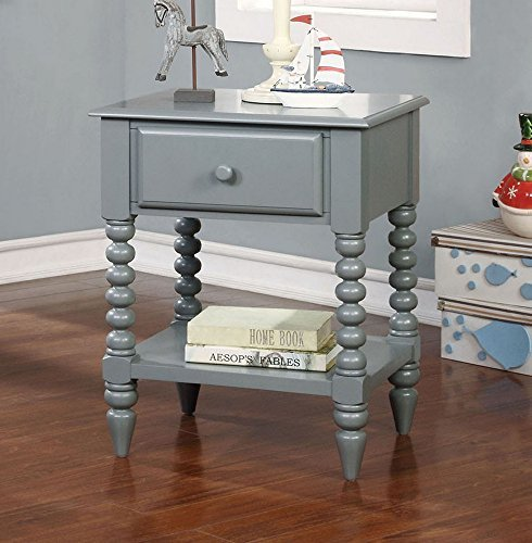 247SHOPATHOME IDF-AC323GY Childrens, nightstand, Gary