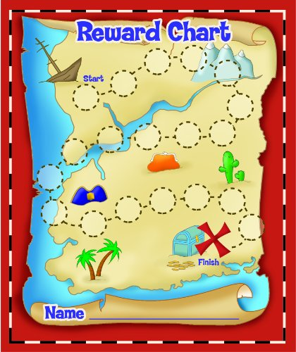 Eureka island Treasure Hunt Mini Reward Charts with Stickers, Package of 36 Eureka Mini