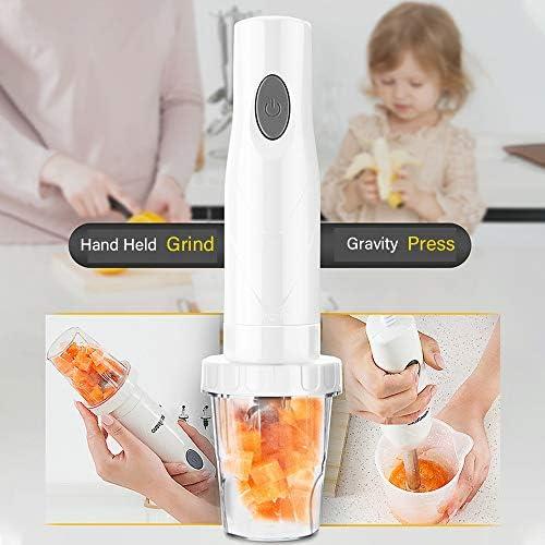 WIG-WYF Staafmixer, spatbediening, mengbeker van 600 ml, multifunctionele keuken huishoudelijke hand-held kookstick babyvoedingssupplement elektrische roerstok kookmachine juicer