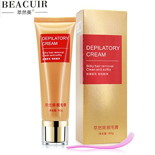 BEACUIR Hair Removal Nourishing Moisturizing Depilatory Cream Delicate Skin 80g