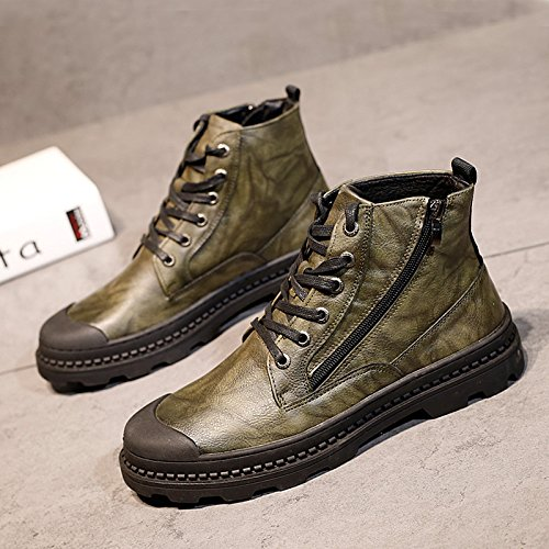 HL-PYL-uomini scarpe alte Martin stivali scarpe All-Match Scarpe Casual Scarpe Uomo in Europa,38,verde
