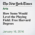 How Some Would Level the Playing Field: Free Harvard Degrees | Stephanie Saul