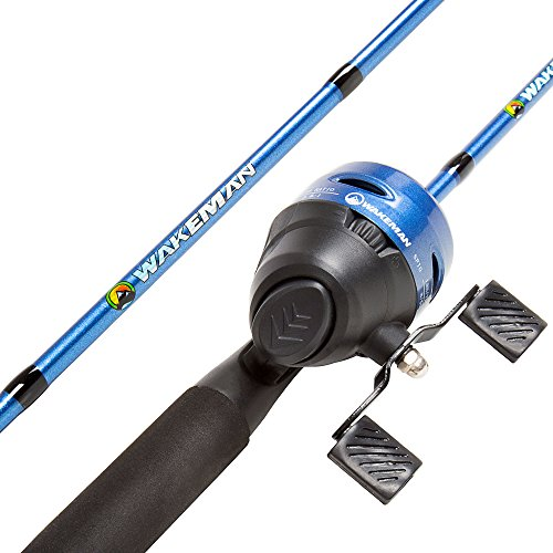 (Wakeman Swarm Series Spincast Rod and Reel Combo - Blue Metallic)