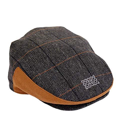 5e7883b79 Patrick Francis Designs Ltd Grey Tweed Celtic Knot Kids Flat Cap (Large)