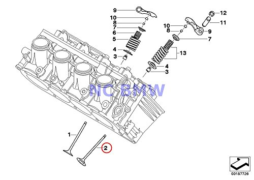 4 X BMW Genuine Motorcycle Timing Gear Exhaust Valve for sale  Delivered anywhere in USA