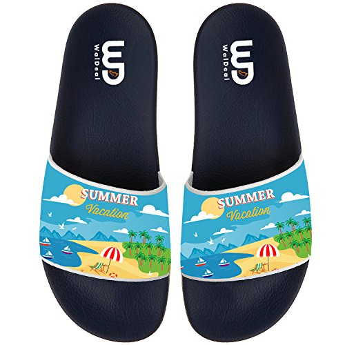 bd2802a5653c5 Summer vacation Non-slip Slide Sandals Home Shoes Beach Swim Flip Flops  Indoor and Outdoor