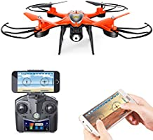 Holy Stone HS130 Wifi FPV Drone with Adjustable HD Video Camera RC Quadcopter with Altitude Hold, App Control,3D VR Headset Compatible, RTF and Easy to Fly for Beginner and Expert