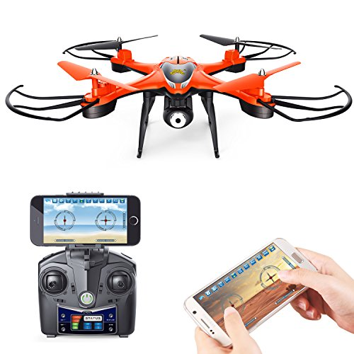 c9c0cac0ee2 Holy Stone HS130 Wifi FPV Drone with Adjustable HD Video Camera RC  Quadcopter with Altitude Hold