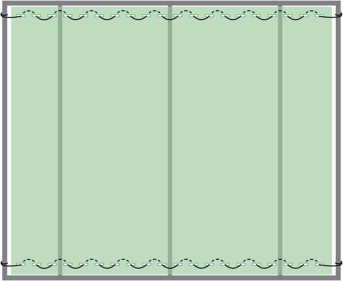 Ombrage 80/% Hauteur: 100cm Ligne de Fixation PP 2mm Couleur: Vert Fonc/é Longueur: 20mb HOLZBRINK Filet d/'Ombrage 90g//m/² HZB-01C-100-20
