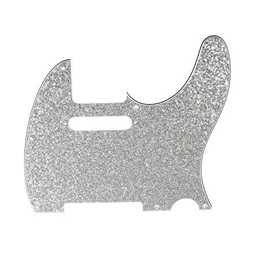 D'Andrea Pro Tele Guitar Pickguard, Silver Sparkle ()
