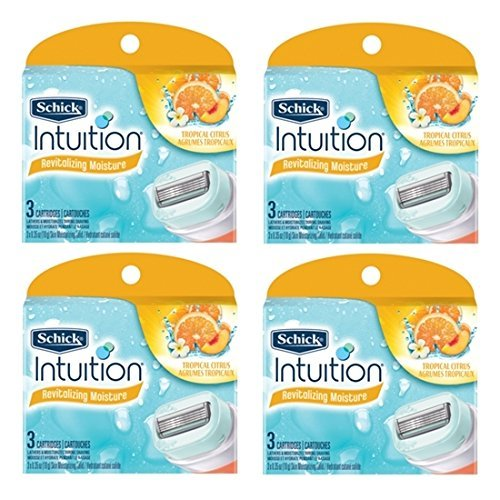 NEW Schick Intuition Tropical Citrus Razor Refill 12 Blade by Schick