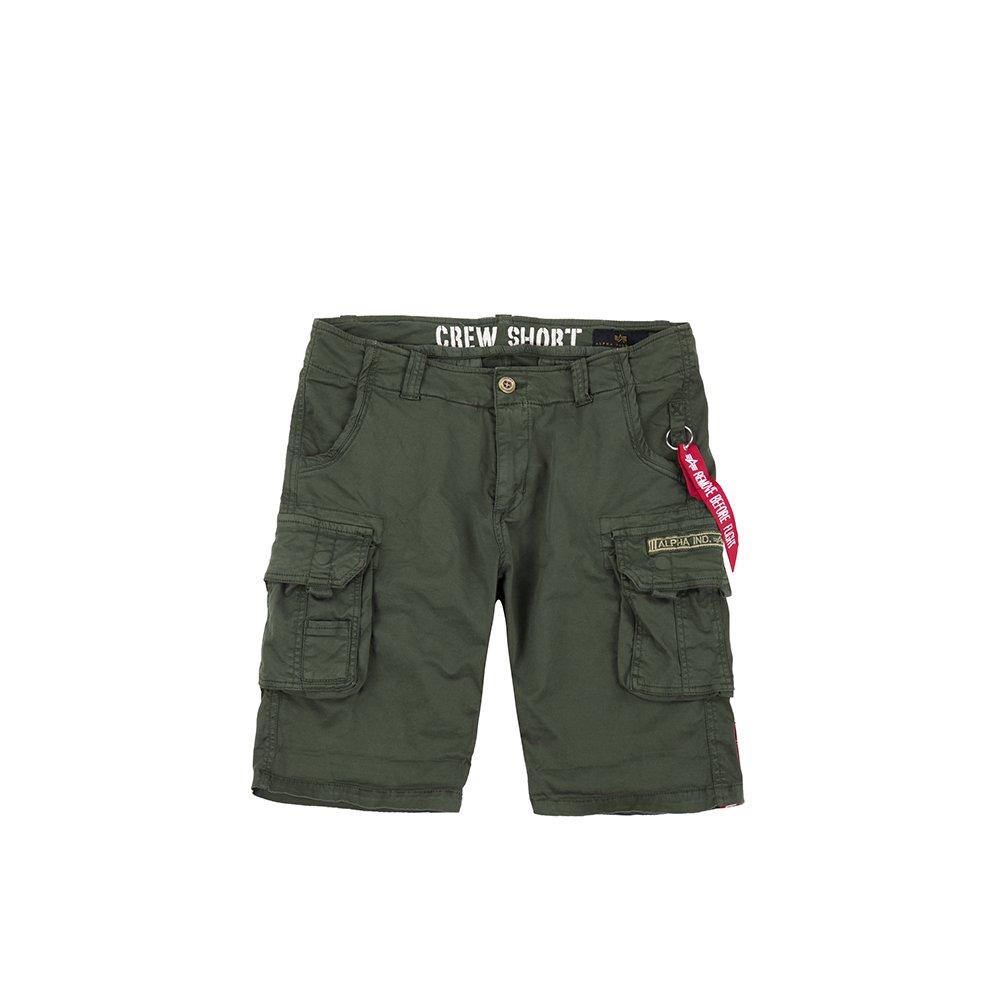 Grün Alpha Industries Herren Hosen Shorts Crew