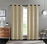 Cheap VCNY Home 2 Pack Geometric Trellis Blackout, Room Darkening, Energy Saving, Noise Reducing, Thermal Grommet Top Curtain Panels – Assorted Colors (Taupe)