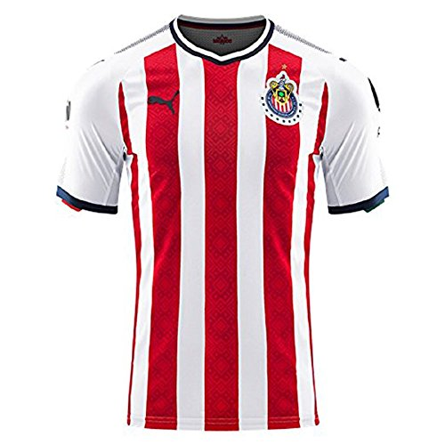 PUMA Men's Chivas Shirt Replica 17-18, Home red New Navy Whi