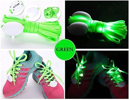 AcTopp Cordones LED Ultra luminoso de Zapatos de Nylon LED Shoe ...