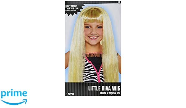 Amazon.com: Amscan Little Diva Wig-Child Costume Accessories: Toys & Games