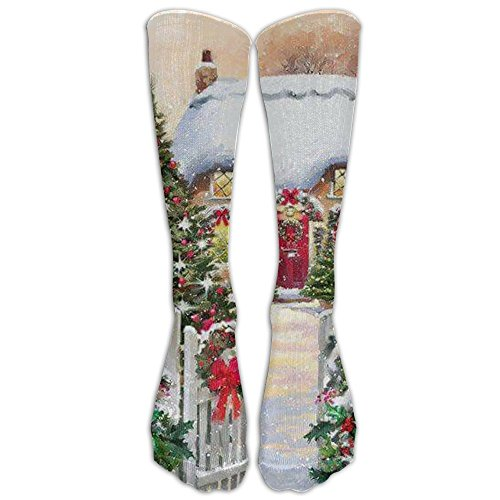 Home Decorated Christmas Elements Compression Socks Football Socks Sports Stockings Long Socks