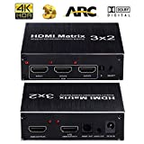 Best HDMI Splitters With Audios - 4K HDMI Switch 3 x 2 ARC HDMI Review