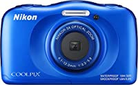 Nikon Coolpix W100 Rugged Digital Camera (Blue) + 32GB Card + Battery with Charger + Floating Strap + Bundle by Nikon