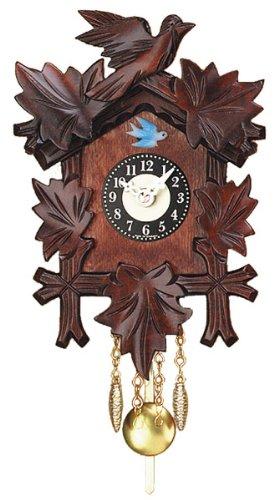 Miniature quarzo intagliato a mano Orologio a cucù pendolo, da 7 pollici Engstler