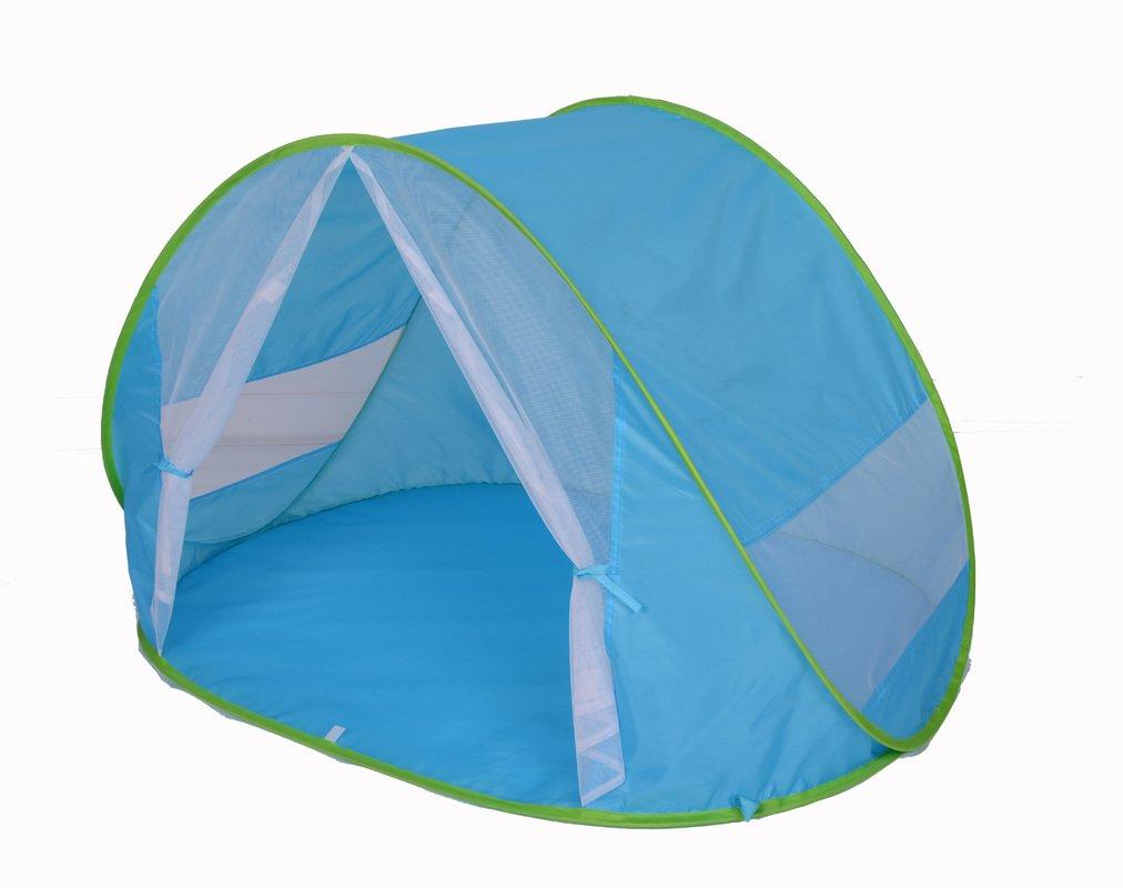 Tente de plage BÉBÉ PROTECTION UV 50+ MAXIMAL avec MOUSTIQUAIRE, parasol, pliable baby enfant famille abri parasol soleil montage automatique Pop Up Instantané Kiddus Accesorios SL