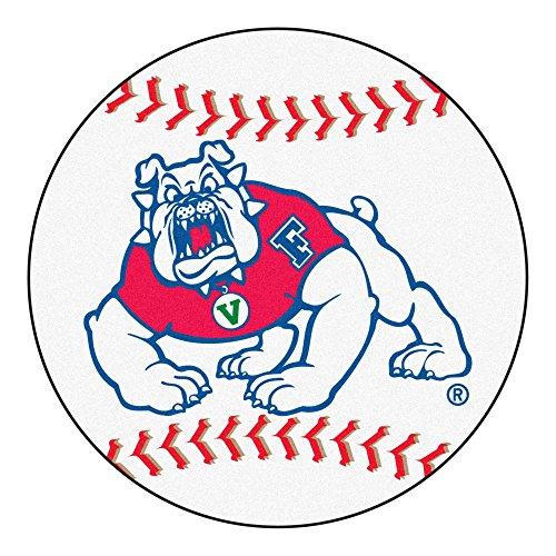 FANMATS NCAA Fresno State Bulldogs Nylon Face Baseball Rug