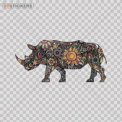 5/'/' Patterned Rhino Car Bumper Sticker Decal 6/'/' or 8/'/' 3/'/'