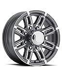 NEW 16'' Gunmetal Aluminum T06 Sendel Trailer Wheel, 8 Lug, T06-66867GM