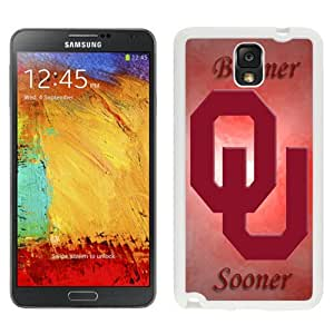 Fashionable And Unique Custom Designed With NCAA Big 12 Conference Big12 Football Oklahoma Sooners 10 Protective Cell Phone Hardshell Cover Case For Samsung Galaxy Note 3 N900A N900V N900P N900T White
