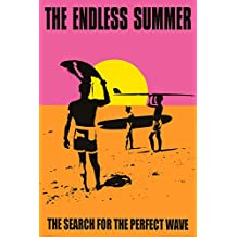 The Endless Summer Movie Holding Surfboard, Orange Poster Print - 24x36