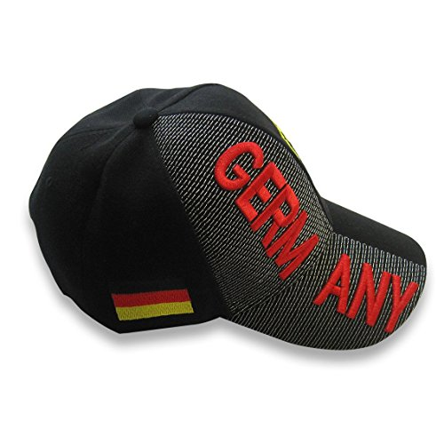 - WOWMAR Mens Baseball Cap Germany Hat with 3D Embroideries Coat of Arms of Germany Deutschland Adjustable Unisex Polo Style One Size