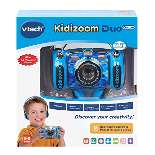 VTech Kidizoom Duo 5.0 Deluxe Digital Selfie Camera with MP3 Player & Headphones, Blue by VTech (Image #6)