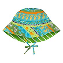 i play. Baby Reversible Bucket Sun Protection Hat, Green Safari, 0-6 Months