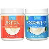 Quest Nutrition Coconut Oil Powder 20 ounces and MCT Oil Powder 16 ounces (Bundle)