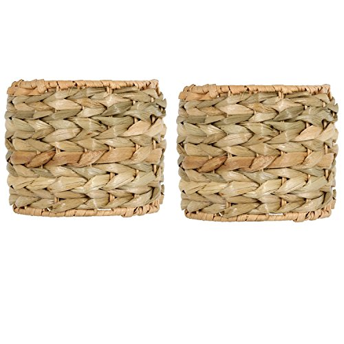 Upgradelights Sea Grass 5 Inch Clip On Chandelier Lamp Shades (Set of 2) 5x5x4 (Lighting Seagrass)