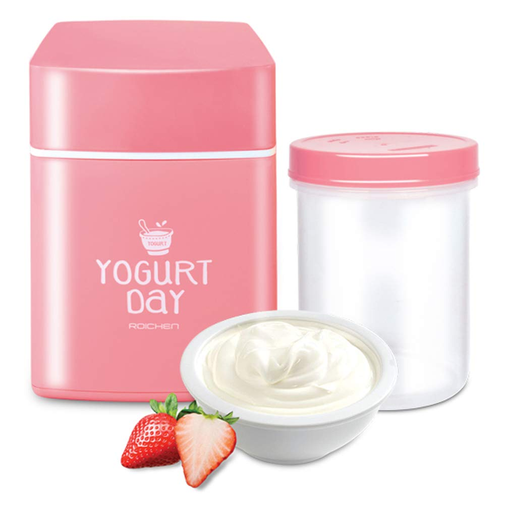 Yogurt Day Non-Electric Home Yogurt Maker, 30 Ounces, Pink by Yogurt Day