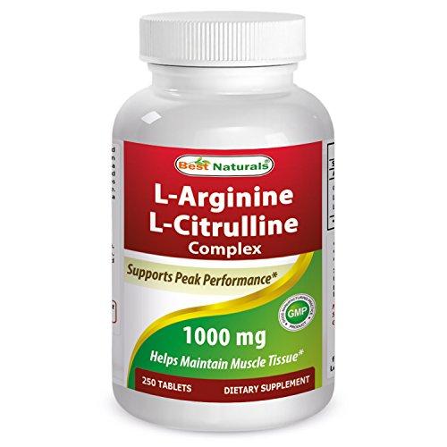 L-arginine L-citrulline Complex - Best Naturals L-Arginine L-Citruline Complex Tablets, 250 Count