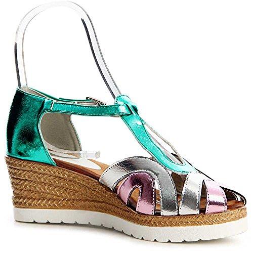 topschuhe24 - Sandalias de vestir para mujer Verde